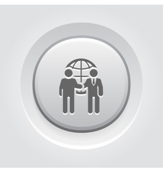 Business meeting icon grey button design vector