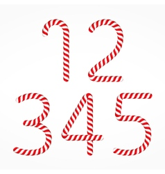 Candy Canes Numbers vector image vector image
