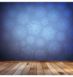 Christmas composition with wood floor EPS 10 vector image