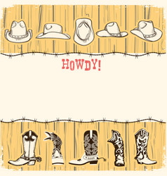 Cowboy party paper background for text vector