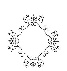 elegant victorian frame icon vector image vector image