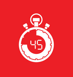 forty five minute stop watch countdown vector image