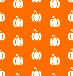 Halloween pumpkins seamless pattern watercolor vector