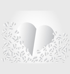heart white paper valentines day card for vector image