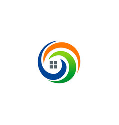 House abstract technology logo vector