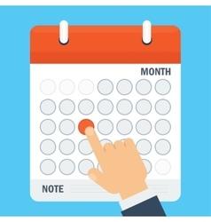 Important date in calendar vector