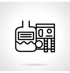 Industrial water treatment icon vector