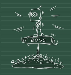 Man big boss vector