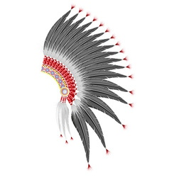 mohawk hat of the american indians vector image vector image