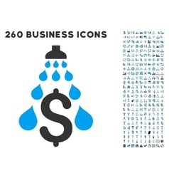 Money laundering icon with flat set vector