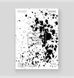 Monochrome explosion paint splatter artistic vector