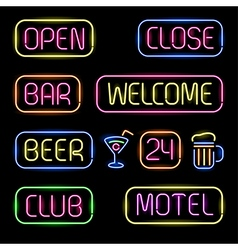 Neon signs vector