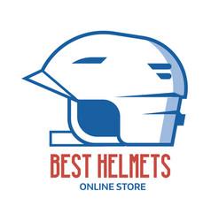 Riding helmet line icon vector