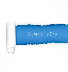 ripped blue paper vector image