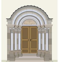 Romanesque portal vector image