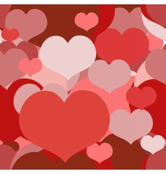 Seamless pattern with overlapped hearts vector