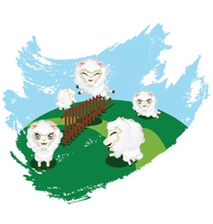 Sheep jumping vector