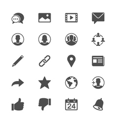 Social network flat icons vector