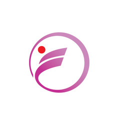 Sport circle round logo vector