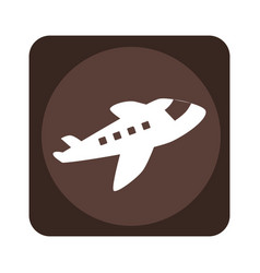 square emblem with cargo airplane vector image