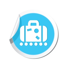 suitecase BLUE LABEL vector image vector image