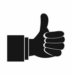 Thumb up gesture icon simple style vector image