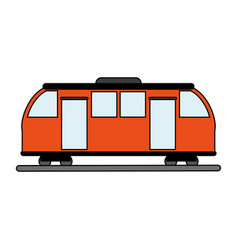 Train wagon design vector