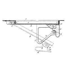 Trap door mill vintage engraving vector