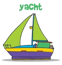 Yacht carton art vector