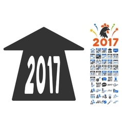 2017 future road icon with 2017 year bonus vector