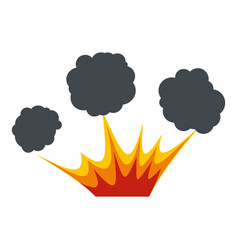 Explosion icon isolated vector