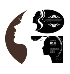 Images and emblems or spa and beauty salons vector