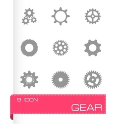 Gear icons set vector