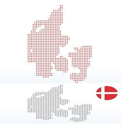 Map of kingdom of denmark with with dot pattern vector