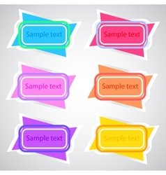 Colored banners 3 vector