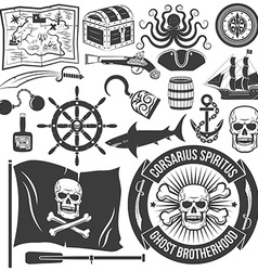 Pirate-style tattoo vector