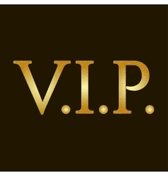 Gold vip lettering vector