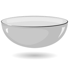 Metal bowl on a white background vector