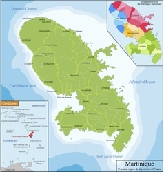 Map of martinique vector