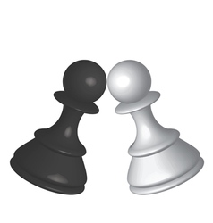black white pawns vector image