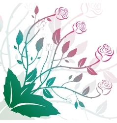 Flower decoration with roses and curls vector