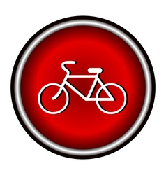 Bicycle icon on white background vector