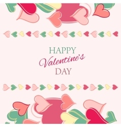 Post card for valentine s day vector