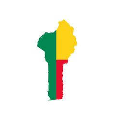 benin map and flag vector image vector image