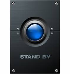 big blue button vector image vector image