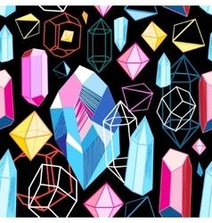 Bright pattern crystals vector