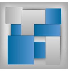 business squares template blue vector image