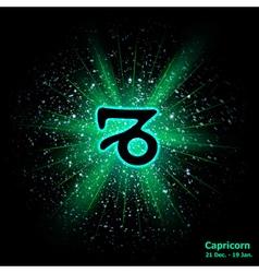 capricorn luminous vector image