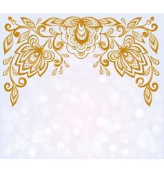 carved floral pattern vector image