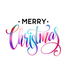 christmas calligraphy handwriting lettering of vector image